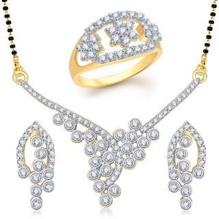 Meenaz Mangalsutra Jewellery Set bo Gold Plated For Women  - Com13610