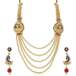 Meenaz Traditional Necklace Sets Jewellery Sets Gold Plated With Earrings For Women,Girls NL137
