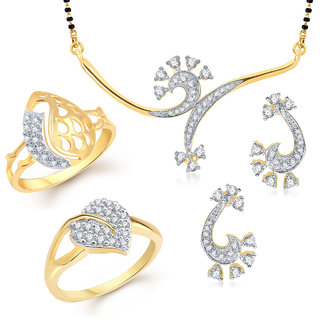 Meenaz Mangalsutra Jewellery Set bo Gold Plated For Women  - Com12214