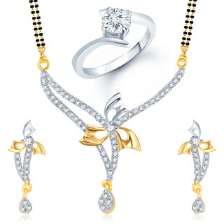 Meenaz Mangalsutra Jewellery Set bo Gold Plated For Women  - Com12416