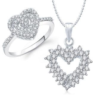 Meenaz Pendant Set bo Gold Plated CZ With American Diamond For Girls  Women  - Com1788