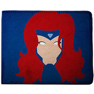 ShopMantra Blue and Red Canvas Jean Grey X Men Minimal Wallet