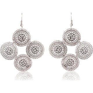 Shining Diva Non Plated Silver Dangle Earrings For Women-CFJ6960er