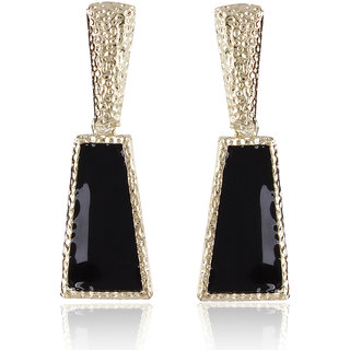 Shining Diva Non Plated Black Dangle Earrings For Women-CFJ6963er