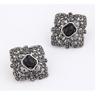 Shining Diva Non Plated Black Studs For Women-CFJ6952er