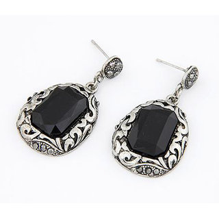 Shining Diva Non Plated Black Drops For Women-CFJ6955er