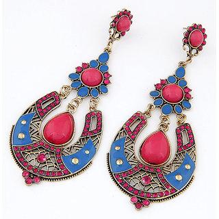 Shining Diva Non Plated Multi Dangle Earrings For Women-CFJ6974er