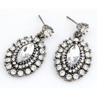 Shining Diva Non Plated Silver Dangle Earrings For Women-CFJ6977er