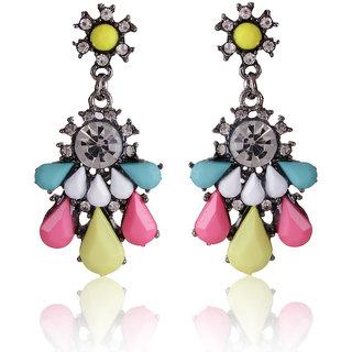 Shining Diva Non Plated Multi Dangle Earrings For Women-CFJ6980er