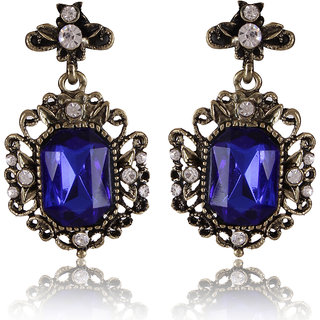Shining Diva Non Plated Blue Dangle Earrings For Women-CFJ6978er