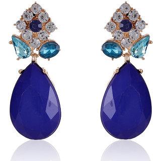 Shining Diva Non Plated Blue Dangle Earrings For Women-CFJ6983er