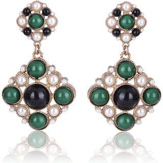 Shining Diva Non Plated Multi Dangle Earrings For Women-CFJ6967er