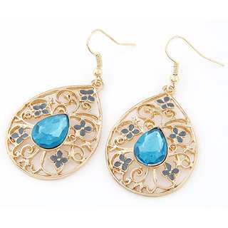 Shining Diva Non Plated Blue Dangle Earrings For Women-CFJ6984er
