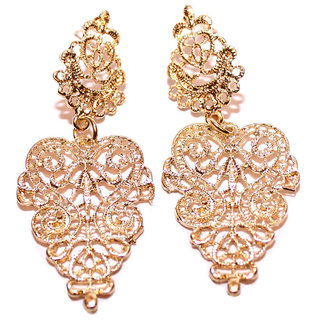Shining Diva Non Plated Gold Dangle Earrings For Women-CFJ6986er