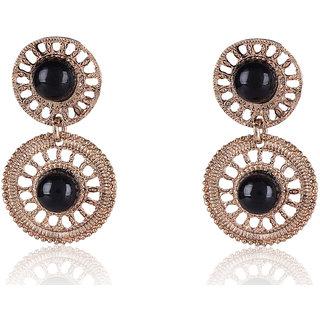 Shining Diva Non Plated Black Dangle Earrings For Women-CFJ6987er