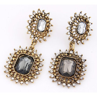 Shining Diva Non Plated Grey Dangle Earrings For Women-CFJ6990er