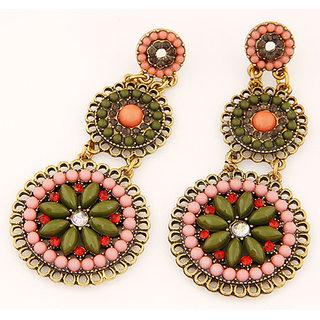 Shining Diva Non Plated Multi Dangle Earrings For Women-CFJ6995er