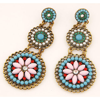 Shining Diva Non Plated Multi Dangle Earrings For Women-CFJ6996er