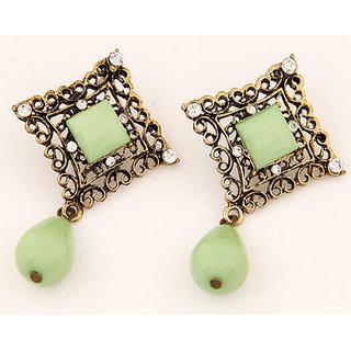 Shining Diva Non Plated Green Drops For Women-CFJ6999er