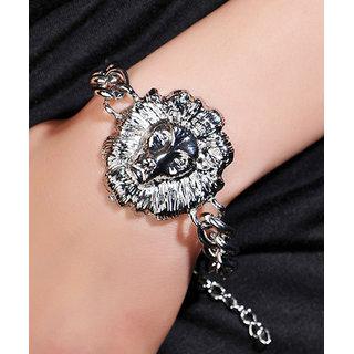 Shining Diva Non Plated Silver Charm Bracelets For Women-CFJ6260b