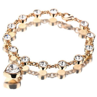 Shining Diva Non Plated Gold Charm Bracelets For Women-CFJ6571b