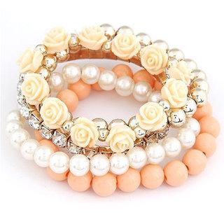 Shining Diva Non Plated Orange Bracelets For Women-CFJ6729b