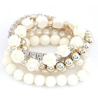 Shining Diva Non Plated White Bracelets For Women-CFJ6730b