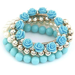 Shining Diva Non Plated Blue Bracelets For Women-CFJ6731b
