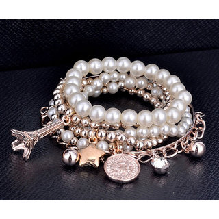Shining Diva Non Plated White Bangles For Women-CFJ6763b