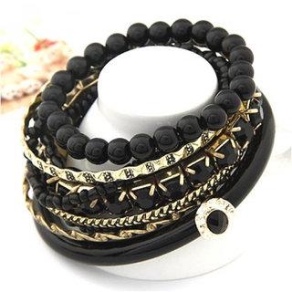 Shining Diva Non Plated Black Bangles For Women-CFJ6764b