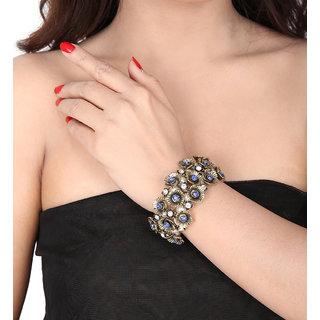 Shining Diva Non Plated Blue Charm Bracelets For Women-CFJ6857b