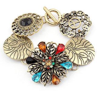 Shining Diva Non Plated Multi Charm Bracelets For Women-CFJ6862b