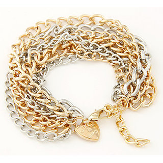 Shining Diva Non Plated Multi Charm Bracelets For Women-CFJ7075b