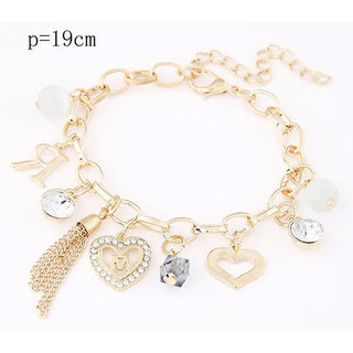 Shining Diva Non Plated Gold Charm Bracelets For Women-CFJ7079b