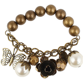 Shining Diva Non Plated White Charm Bracelets For Women-CFJ7149b