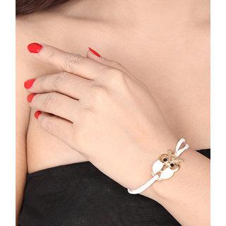 Shining Diva Non Plated White Charm Bracelets For Women-CFJ7172b