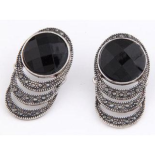Shining Diva Non Plated Black Studs For Women-CFJ7004er