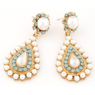 Shining Diva Non Plated Multi Dangle Earrings For Women-CFJ7009er