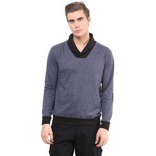 Hypernation Grey Cotton T-shirt-HYPM0526