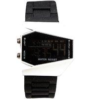 Unisex White Black Dial Black Belt Digital Designer Dial Women And Men Watches