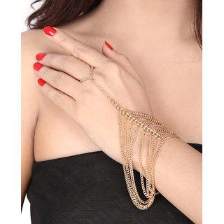 Shining Diva Non Plated Gold Charm Bracelets For Women-CFJ7296b