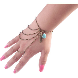 Shining Diva Non Plated Gold Charm Bracelets For Women-CFJ7314b