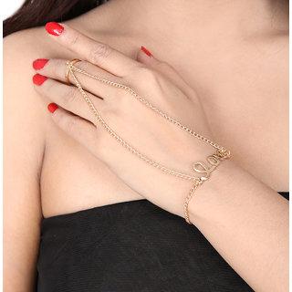 Shining Diva Non Plated Gold Charm Bracelets For Women-CFJ7318b