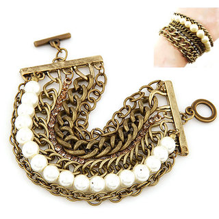 Shining Diva Non Plated White Charm Bracelets For Women-CFJ7364b