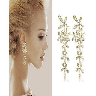 Shining Diva Non Plated Gold Dangle Earrings For Women-CFJ5342er