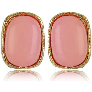 Shining Diva Non Plated Pink Studs For Women-CFJ4818er