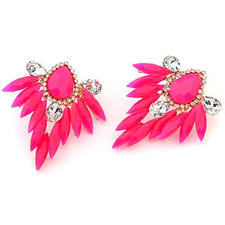 Shining Diva Non Plated Pink Studs For Women-CFJ5334er