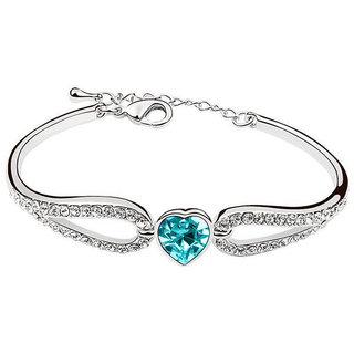 Shining Diva Non Plated Blue Charm Bracelets For Women-CFJ7898b
