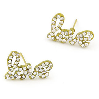 Shining Diva Non Plated Yellow Studs For Women-CFJ6915er