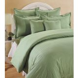 Elements Sonata Classic - Damask Double Bedsheet- Green Garland
